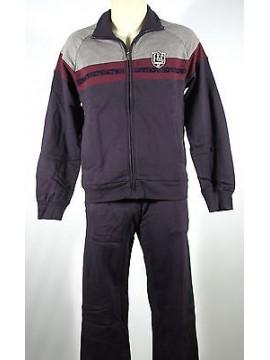 Tuta completo homewear zip uomo F.LLI CAMPAGNOLO 9Q17408 T.48/M c.M982 blu navy