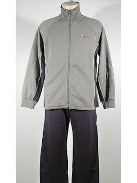 Tuta completo homewear zip uomo F.LLI CAMPAGNOLO a.8Q17614 T.M col.U804 grigio