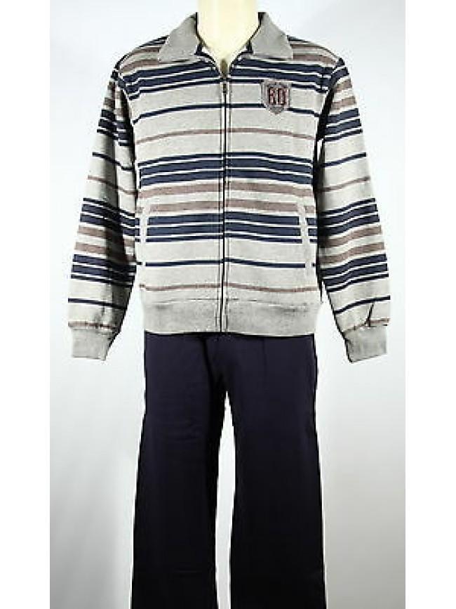 Tuta completo homewear zip uomo F.LLI CAMPAGNOLO a.9Q17406 T.48/M col.U804 fumo