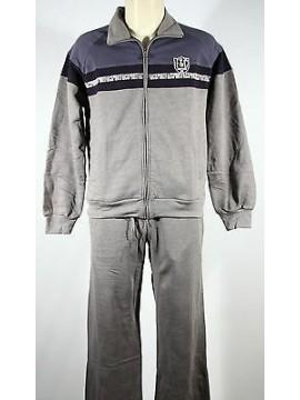 Tuta completo homewear zip uomo F.LLI CAMPAGNOLO a.9Q17408 T.48/M col.U804 fumo
