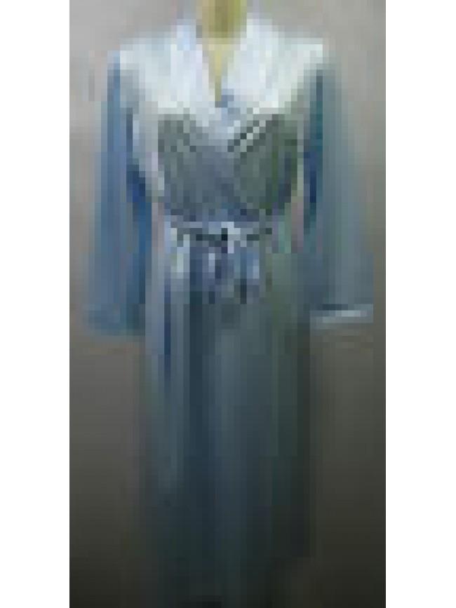 Vestaglia camera donna home wear peignoir B&B a.lisa T.44 col.3 cielo sky Italy