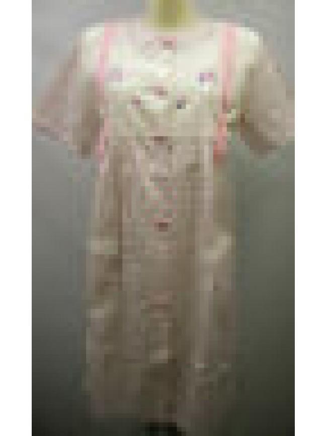 Vestaglia camera donna home wear peignoir BERTILLA a.1352 giuditta T.44 rosa Ita