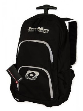 Zaino trolley ruote backpack LOTTO art. K3628 BKPK 50x30x16 colore NERO BLACK